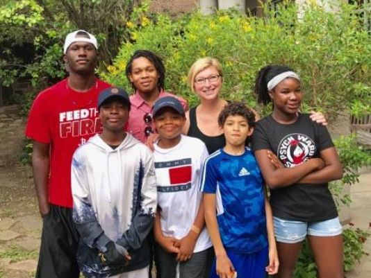 Mom leads her children to Safety Through Hurricane Harvey Floodwaters