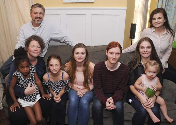 Foster care family, Steve and Erica Benzkofer