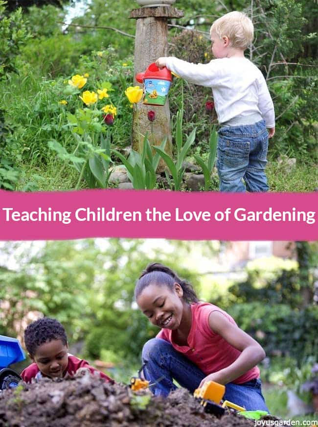 Children learning life lessons through gardening